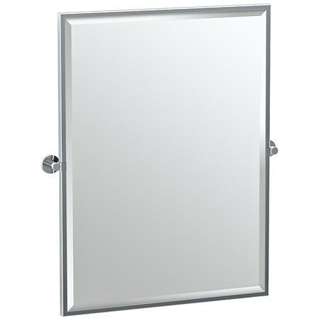 "Gatco Channel Chrome 27 3/4"" x 32 1/2"" Wall Mirror"