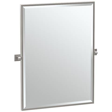"Gatco Elevate Satin Nickel 27 3/4"" x 32 1/2"" Wall Mirror"