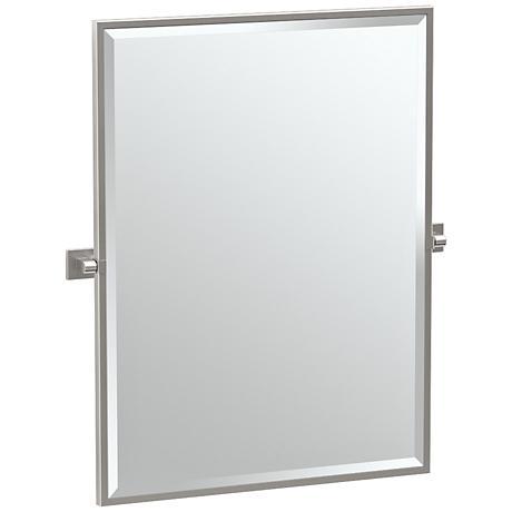 "Gatco Elevate Satin Nickel 27 3/4"" x 32 1/2"" Wall Mirror"