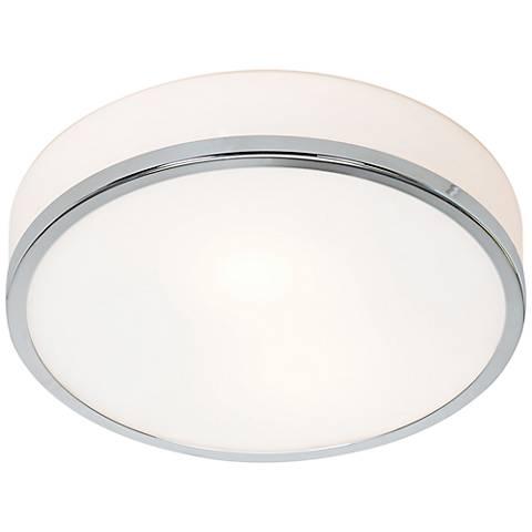 """Aero 10"""" Wide Chrome Ceiling Light"""