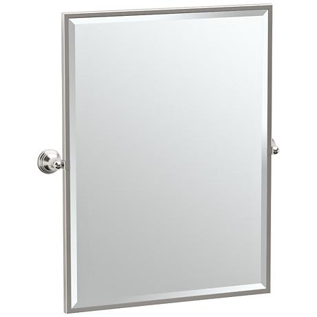 "Gatco Charlotte Satin Nickel 28 1/2"" x 32 1/2"" Wall Mirror"