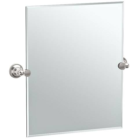 "Gatco Tiara Satin Nickel 24 3/4"" x 24"" Small Wall Mirror"