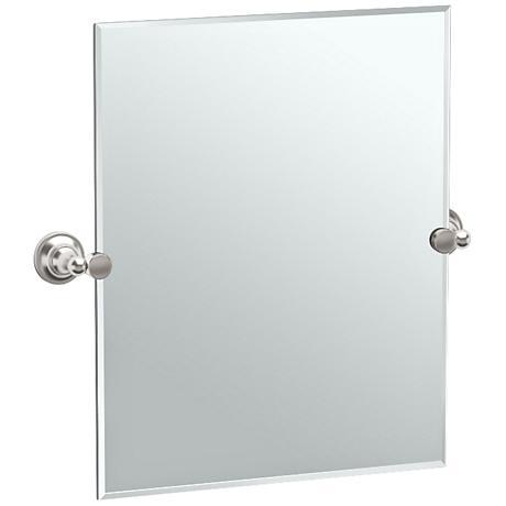"""Gatco Tiara Satin Nickel 24 3/4"""" x 24"""" Small Wall Mirror"""