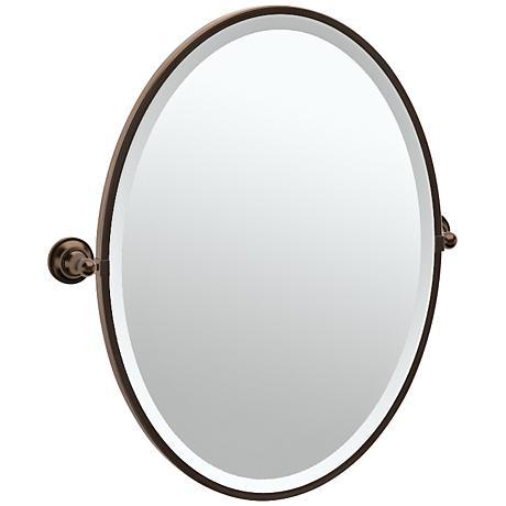 "Gatco Tiara Bronze 24 1/4"" x 27 1/2"" Oval Wall Mirror"