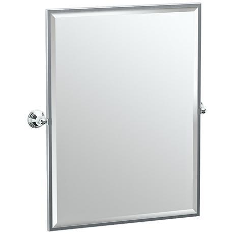 "Gatco Charlotte Chrome 28 1/2"" x 32 1/2"" Wall Mirror"