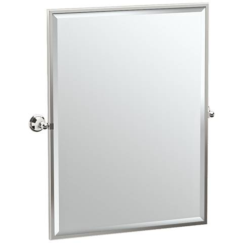 "Gatco Laurel Polished Nickel 28 3/4"" x 32 1/2"" Wall Mirror"