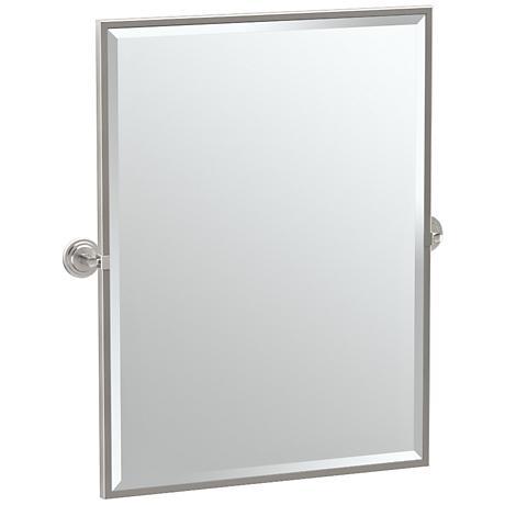 "Gatco Marina Satin Nickel 28 1/4"" x 32 1/2"" Wall Mirror"