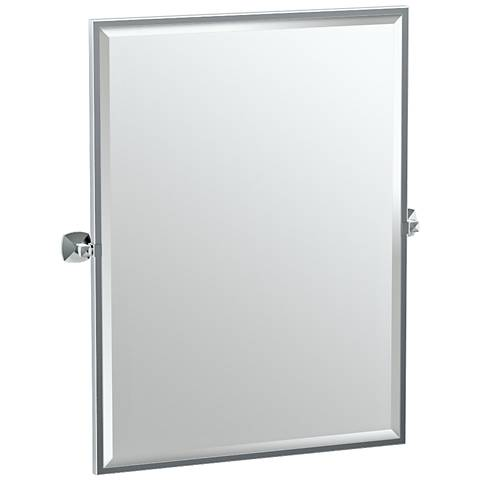 "Gatco Jewel Chrome 28 1/2"" x 32 1/2"" Wall Mirror"