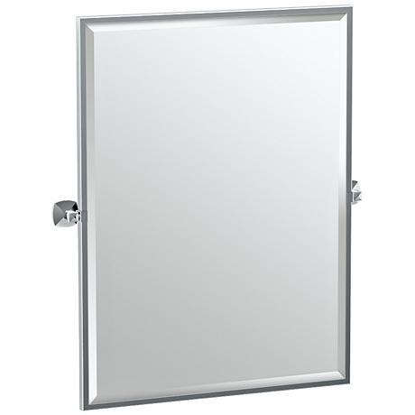 """Gatco Jewel Chrome 28 1/2"""" x 32 1/2"""" Wall Mirror"""