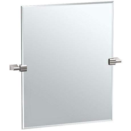 "Gatco Bleu Satin Nickel 19 1/2"" x 24""  Wall Mirror"