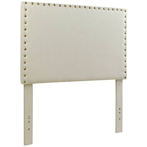 Brande Ivory Full/Queen Upholstered Headboard