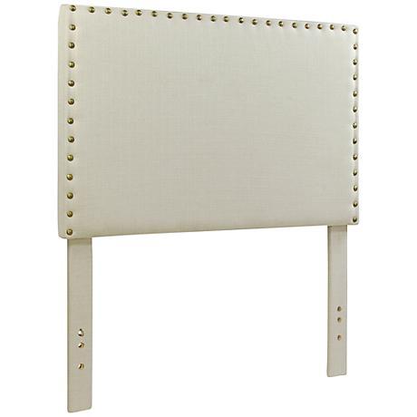 Brande Ivory Full/Queen Upholstered Headboard