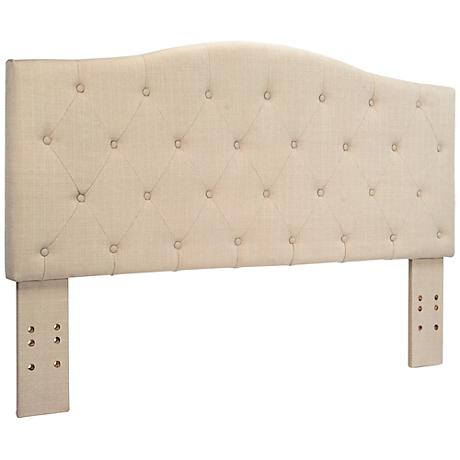Crescent Ivory Full/Queen Tufted Headboard