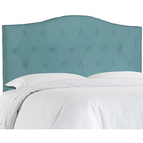 Crescent Light Blue Full/Queen Tufted Headboard