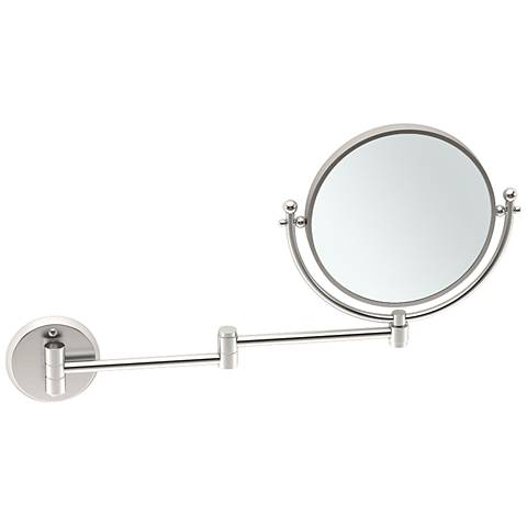 "Gatco Swing Arm Satin Nickel 19 1/2"" x 12"" Makeup Mirror"