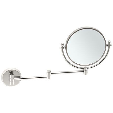 "Gatco Swing Arm Satin Nickel 19 1/2"" x 12"" Makeup Mirror"
