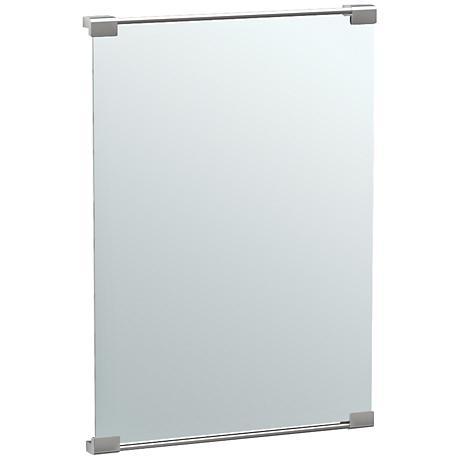 "Gatco Fixed Mount Satin Nickel 22"" x 31 1/2"" Vanity Mirror"