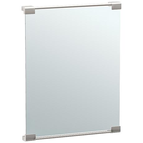 "Gatco Fixed Mount Satin Nickel 19 1/2"" x 25 1/2"" Mirror"