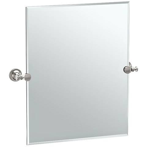 "Gatco Tavern Satin Nickel 23 1/2"" x 24"" Vanity Mirror"