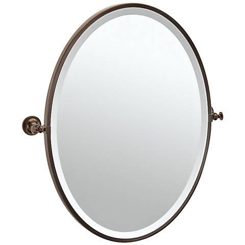"Gatco Tavern Bronze 24 1/2"" x 27 1/2"" Oval Vanity Mirror"