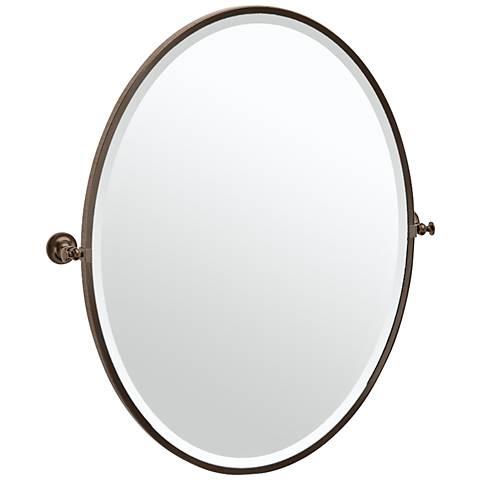 "Gatco Tavern Bronze 28 1/2"" x 33"" Oval Vanity Mirror"
