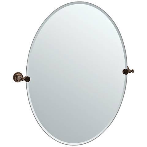"Gatco Tavern Bronze 28 1/2"" x 32"" Oval Vanity Mirror"