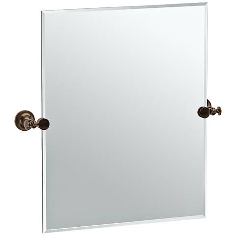 "Gatco Tavern Bronze 23 1/2"" x 24"" Rectangle Vanity Mirror"