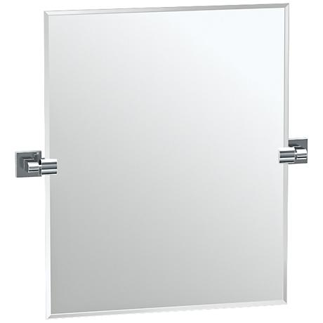 """Gatco Elevate Chrome 23 1/2"""" x 24"""" Rectangle Vanity Mirror"""