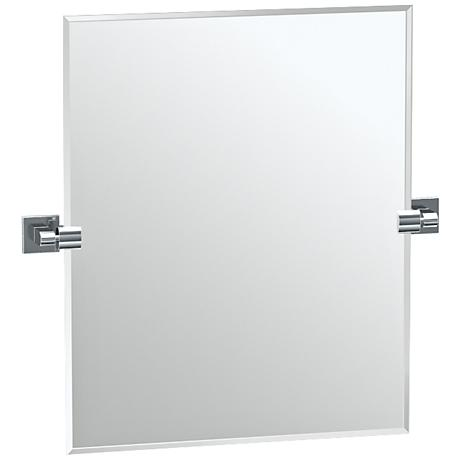 "Gatco Elevate Satin Nickel 23 1/2"" x 24"" Vanity Mirror"