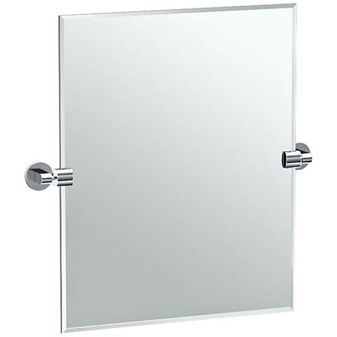 "Gatco Zone Chrome 23 3/4"" x 24"" Rectangle Vanity Mirror"