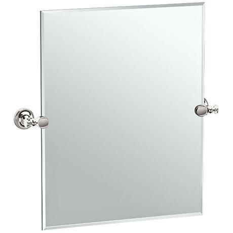 "Gatco Tavern Polished Nickel 23 1/2"" x 24"" Vanity Mirror"