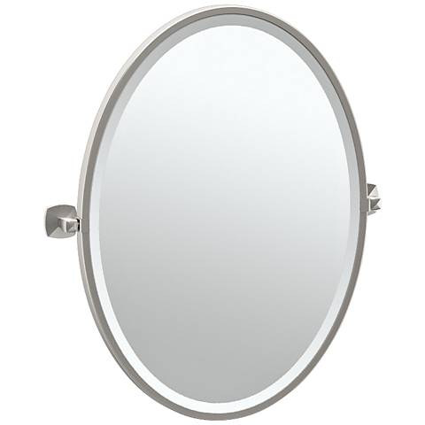 "Gatco Jewel Satin Nickel 23 1/2"" x 27 1/2"" Vanity Mirror"