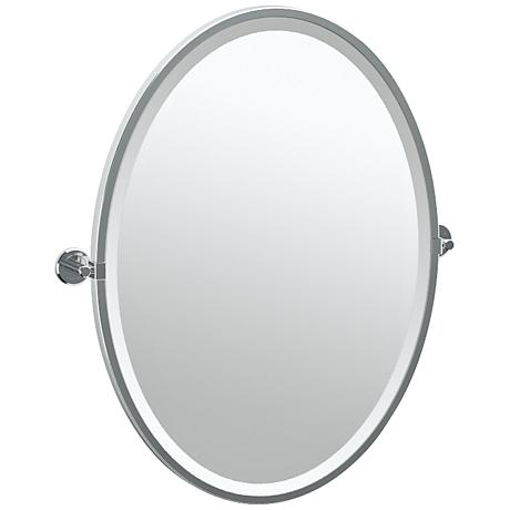 """Gatco Latitude II Chrome 23 3/4"""" x 27 1/2"""" Vanity Mirror"""