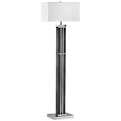 Nova Attitude Zebra Wood Floor Lamp
