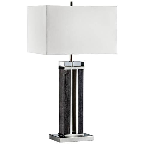 Nova Attitude Zebra Wood Table Lamp