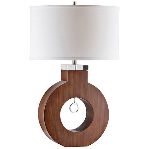 Nova Oh Medium Brown Wood Table Lamp