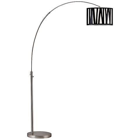 Nova Cortex Modern Brushed Nickel Arc Floor Lamp