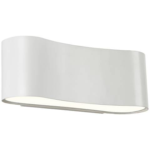 "Sonneman Corso LED 4 1/2"" High Textured White Wall Sconce"