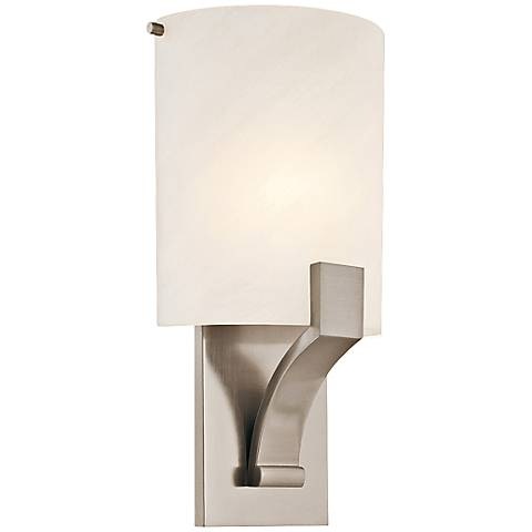 "Sonneman Greco 14"" High Satin Nickel Wall Sconce"