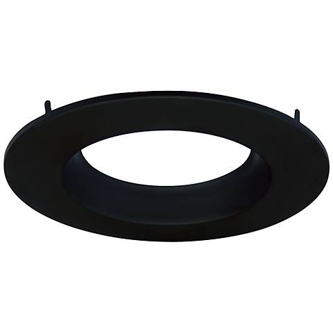 "Cyber Tech 6"" Recessed Light Round Trim in Black"