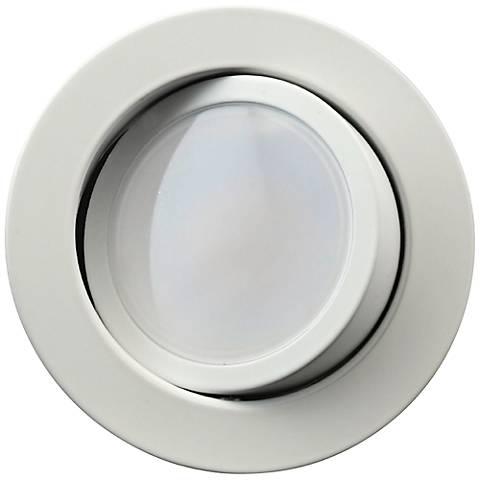 """DLG4 3000K White 9 Watt LED 4"""" Downlight Gimbal"""