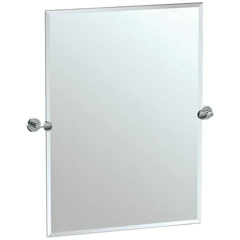 "Gatco Latitude II Chrome 27 1/2"" x 31 1/2"" Vanity Mirror"