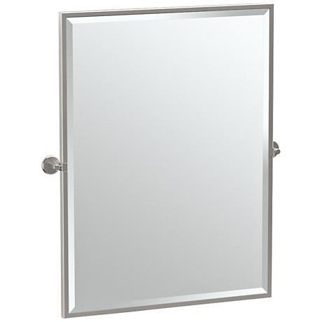 "Gatco Latitude II Satin Nickel 27 3/4"" x 32 1/2"" Mirror"