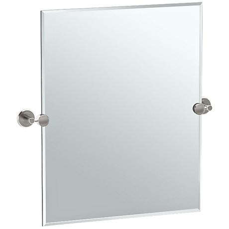 "Gatco Latitude II Satin Nickel 24"" x 24"" Vanity Mirror"