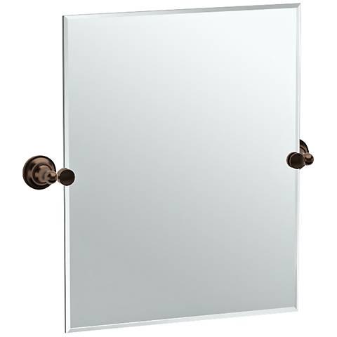 "Gatco Tiara Bronze 24 3/4"" x 24"" Vanity Mirror"