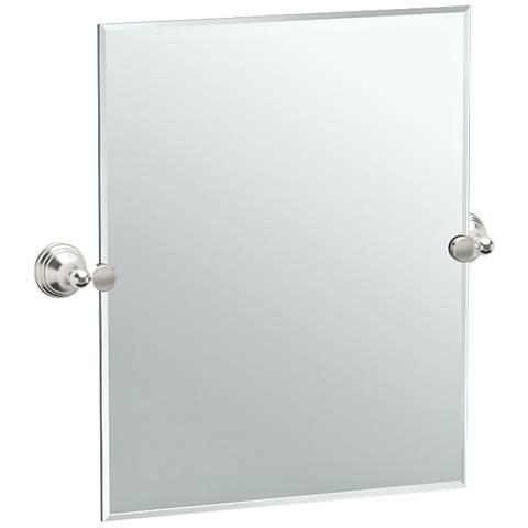 "Gatco Charlotte Satin Nickel 24 1/4"" x 24"" Vanity Mirror"