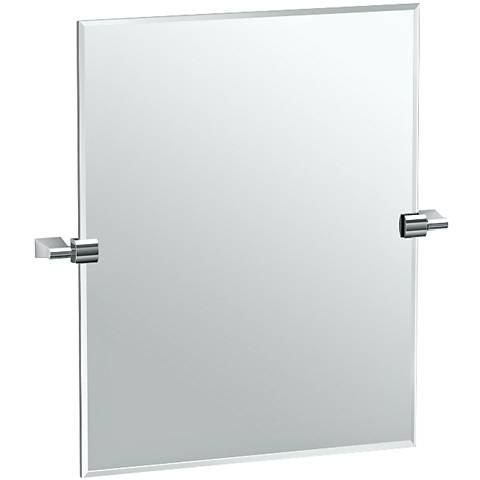 """Gatco Bleu Chrome 24"""" Small Rectangle Vanity Mirror"""