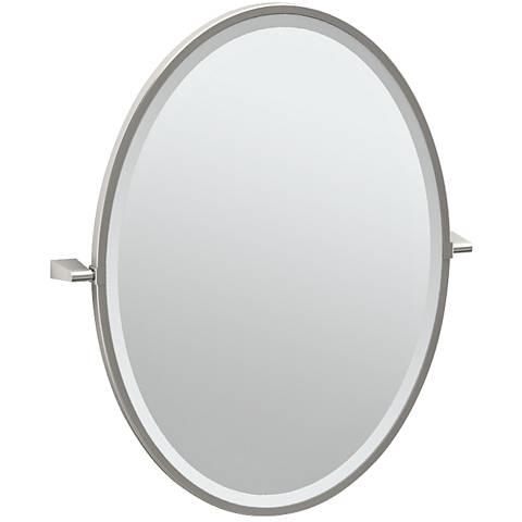 "Gatco Bleu Satin Nickel 23 1/2"" x 27 1/2"" Vanity Mirror"