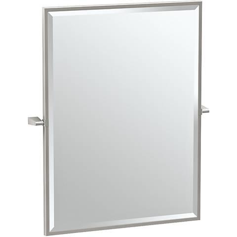 "Gatco Bleu Satin Nickel 27 1/2"" x 32 1/2"" Vanity Mirror"