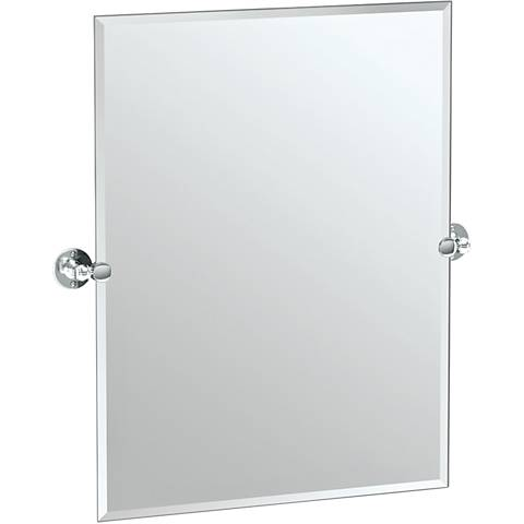 "Gatco Cafe Chrome 27 1/2"" x 31 1/2"" Rectangle Vanity Mirror"